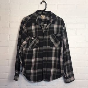 Unisex Flannel Cozy Soft! M Black Gray